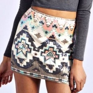 Express Aztec skirt